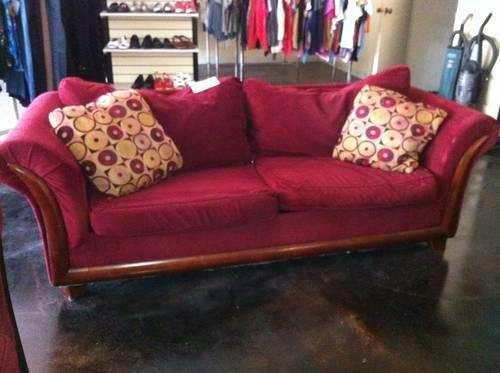 Deep Red Sofa U0026 Love Seat At PAWS Thrift Store