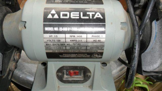 Delta 23 660 Bench Grinder 6 Quot For Sale In Balm North