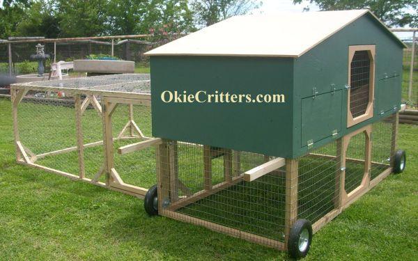 Tractor Wheels Chicken Co Op : Deluxe chicken tractor coop on wheels talala for