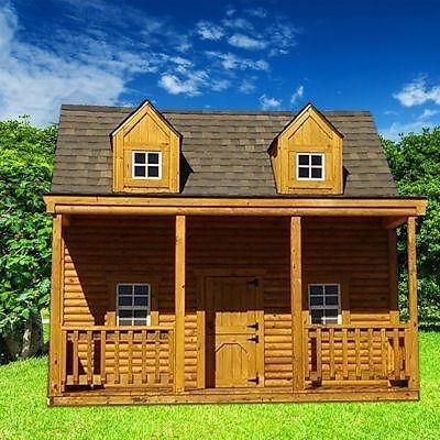 Deluxe Log Cabin Playhouse Free Delivery For Sale In
