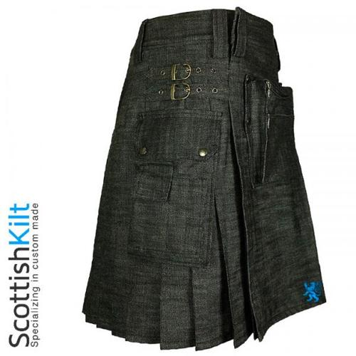 Denim Kilt with unique design