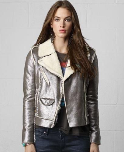 Denim & Supply Ralph Lauren Faux-Shearling Metallic