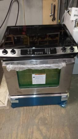Dented Whirlpool Slide In Electric Range For Sale In
