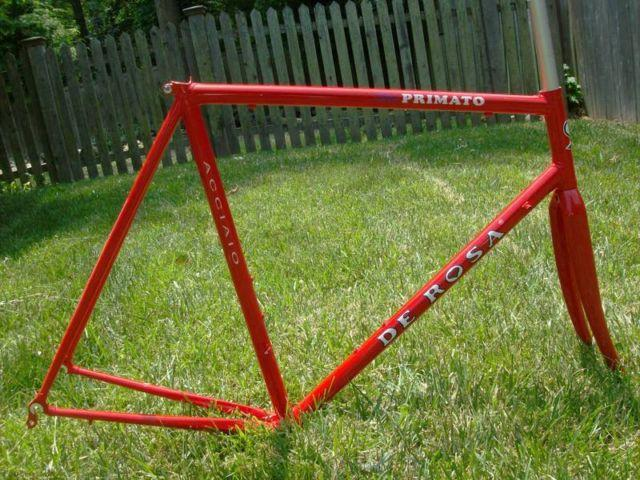 DeRosa Neo Primato steel frameset, 57cm, red, NEW