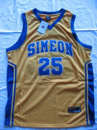 sports shoes 658b5 fee9d Derrick Rose nike Simeon High basketball jersey Memphis ...