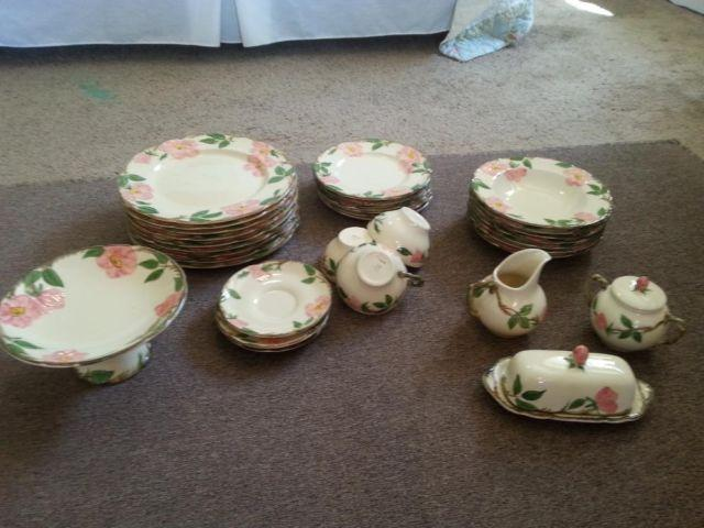 Desert Rose Dishes - 41 pieces