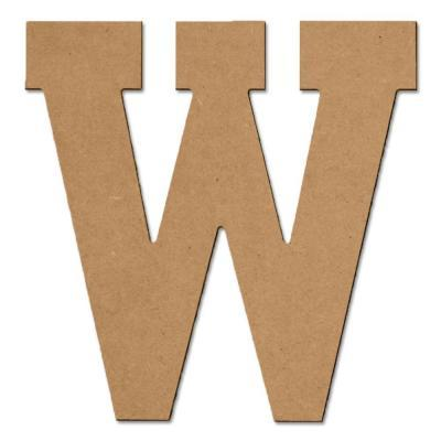 Design Craft MIllworks 8 in. MDF Block Wood Letter (W) for Sale in ...