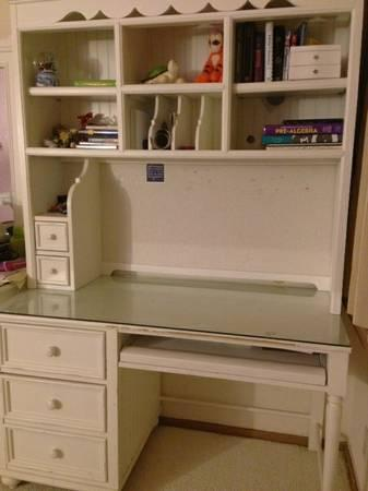 Desk with Hutch for Girl's Bedroom - $275