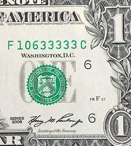 Details about �$1 FRN 2006 Block F-C Five of-a-Kind &