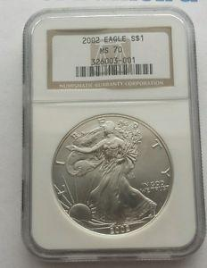 Details about �? 2002 American Silver Eagle Coin NGC