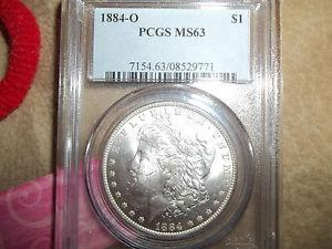 Details about �1884 O MORGAN DOLLAR, PCGS MS63. SWEET