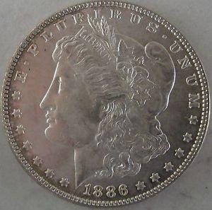 Details about �1886-P Morgan Silver Dollar - Gorgeous