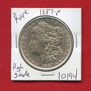 Details about �1887 MORGAN SILVER DOLLAR #10194 $ HIGH