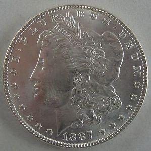 Details about �1887-P Morgan Silver Dollar - Glowing