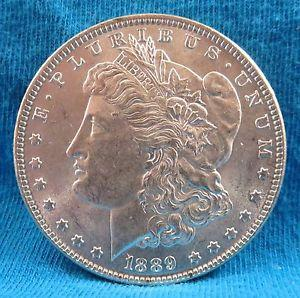 Details about �1889-p Morgan Silver Dollar UNC/High
