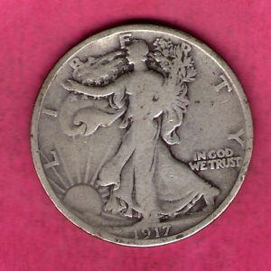 Details about �1917 SILVER WALKING LIBERTY HALF