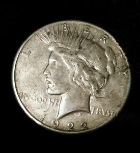 Details about �1922-1935 Peace Silver Dollar (Almost