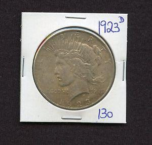 Details about �1923 D SILVER PEACE DOLLAR COIN #130