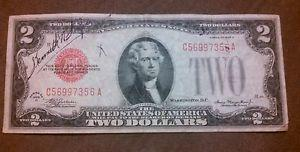 Details about �1928 D $2 DOLLAR BILL BANK NOTE OLD