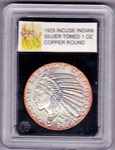 Details about �1929 INCUSE INDIAN HEAD SILVER TONED