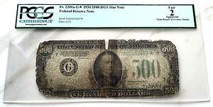 Details about �1934 A Federal Reserve Chicago $500 DGS