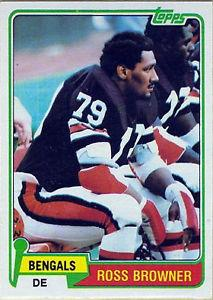 Details about �1981 Topps Ross Browner Cincinnati