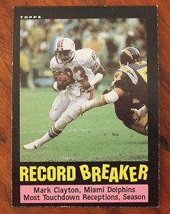 Details about �1985 Topps Mark Clayton #1 Football Card