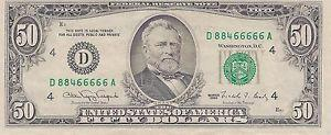 Details About 1990 Dollar Bill Small Head 66666 Serial Cleveland Ohio Reserve For In Greensboro North Carolina