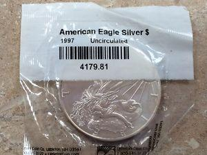 Details about �1997 $1 American Silver Eagle UNC ~