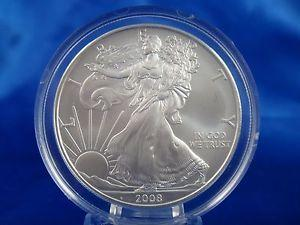 Details about �2008 $1 American Eagle Silver Dollar US
