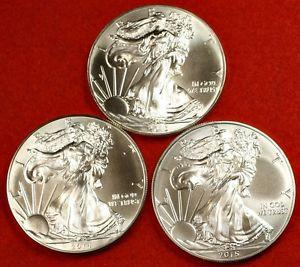 Details about �2013 2014 & 2015 BU AMERICAN .999 SILVER