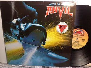 Details about �ANVIL Metal On Metal VINYL RECORD 12