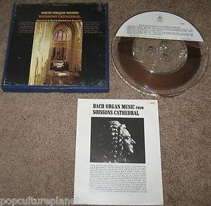Details about BACH ORGAN MUSIC FROM SOISSONS CATHEDRAL REEL-TO-REEL TAPE 4 TRACK 7.5 IPS