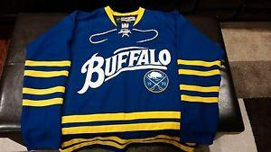 2cf783be486 Details about  Buffalo Sabres Mens Reebok Blue and Gold Alternate ...