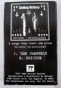 Details about Choking Victim Suicide 1999 Promo Cassette Tape Hardcore Punk Rock Music Rare