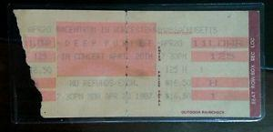 Details about �DEEP PURPLE Concert Ticket Stub