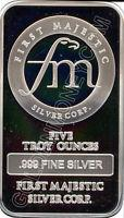 Details about �First Majestic 5 Oz. Silver Bar .999