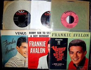 Details about �FRANKIE AVALON LOT 6 45'S ALL NEAR MINT!