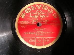 Details About FRIEDA HEMPEL On POLYDOR 78 Rpm Record For Sale In