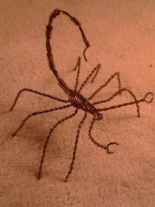 Details about Handmade Solid Copper Wire Scorpion. Brand New ...