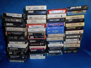 Details about Huge Lot of Classic Rock 8 Track Tapes 52 Bob Dylan Santana Steve Miller more