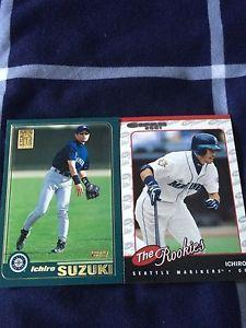 Details about Ichiro Suzuki 2 Card Rookie RC Lot Mariners 2001 Topps  Donruss