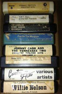 Details about �Lot Country 8-Track Tapes Willie Cash