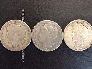 Details about �Lot of (3) Peace and Morgan Silver