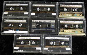 Details about Lot of 8 Maxell XL II 90 UDS-I cassette tapes pre-recorded vintage Made in Japan