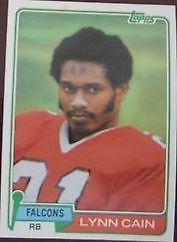 Details about �Lynn Cain 1981 Topps Atlanta Falcons