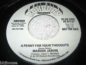 Details about �MARION JARVIS - A Penny For Your