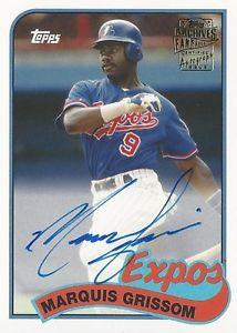 Details about �MARQUIS GRISSOM ON CARD AUTOGRAPH 2015