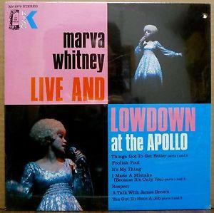 Details about �MARVA WHITNEY Live And Lowdown SEALED