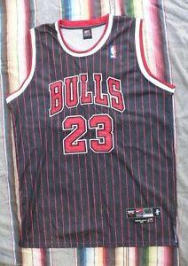 wholesale dealer 9f8eb fc048 Details about  Michael Jordan 23 Black Nike Sewn Jersey ...